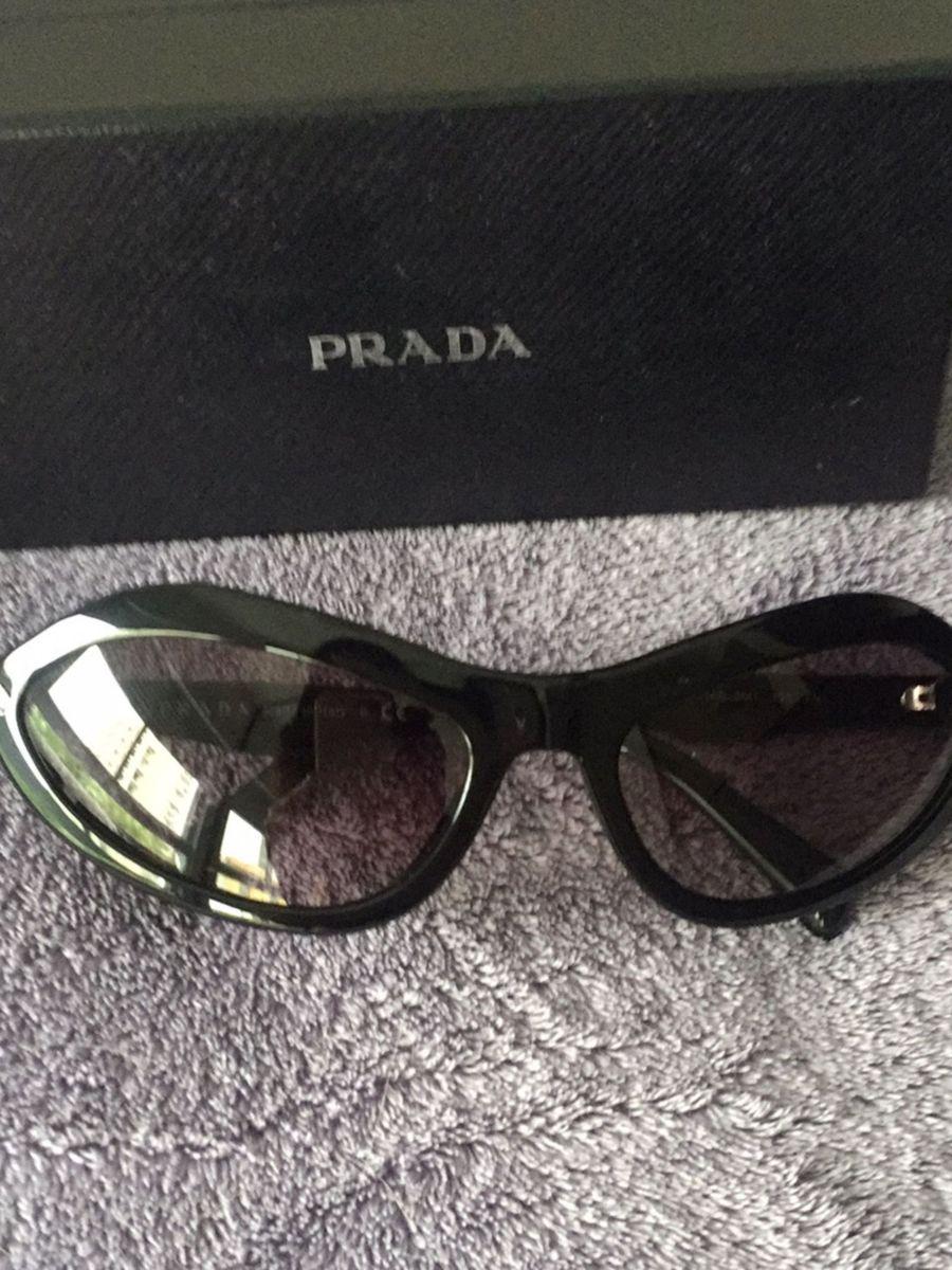 6f097da50 Oculos Prada Acetato Preto Gatinha | Óculos Feminino Prada Nunca ...