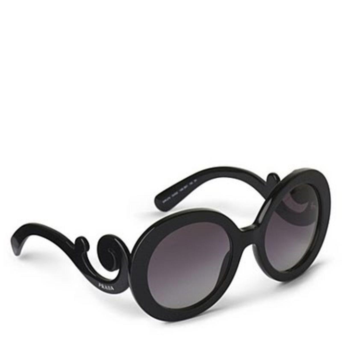 b41240ee53037 Óculos Prada Baroque Redondo