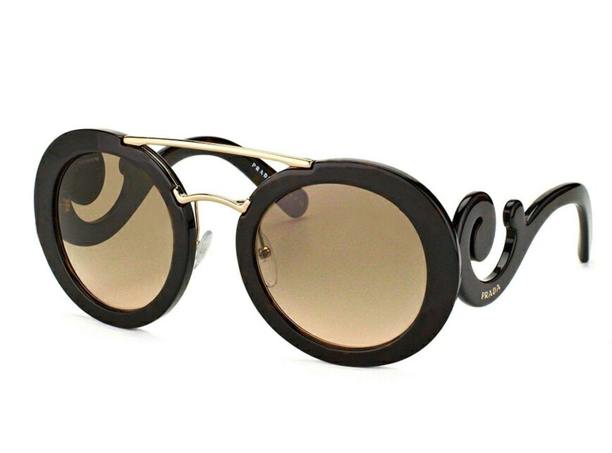 Óculos Prada Minimal Baroque 27ns Havana   Óculos Feminino Prada Nunca  Usado 19736104   enjoei d643590cfd
