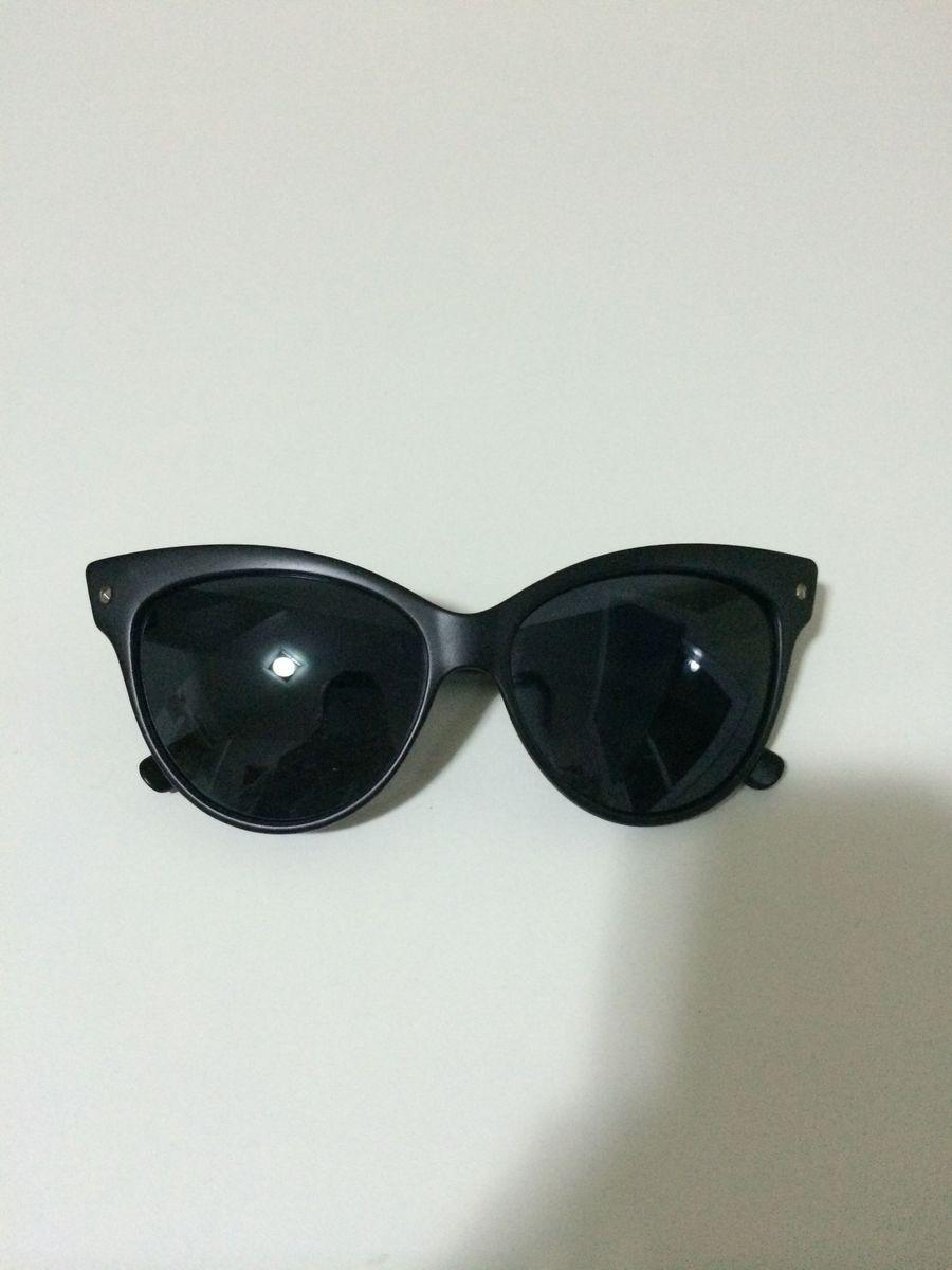 óculos preto fosco cat eye - óculos sem marca