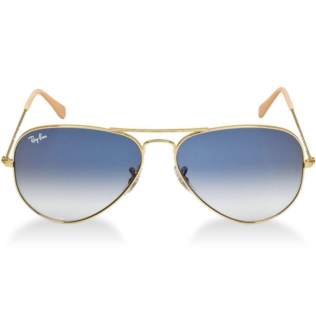 óculos ray ban aviador 3026 unissex tamanho médio grande - óculos ray ban 00fa95f1af