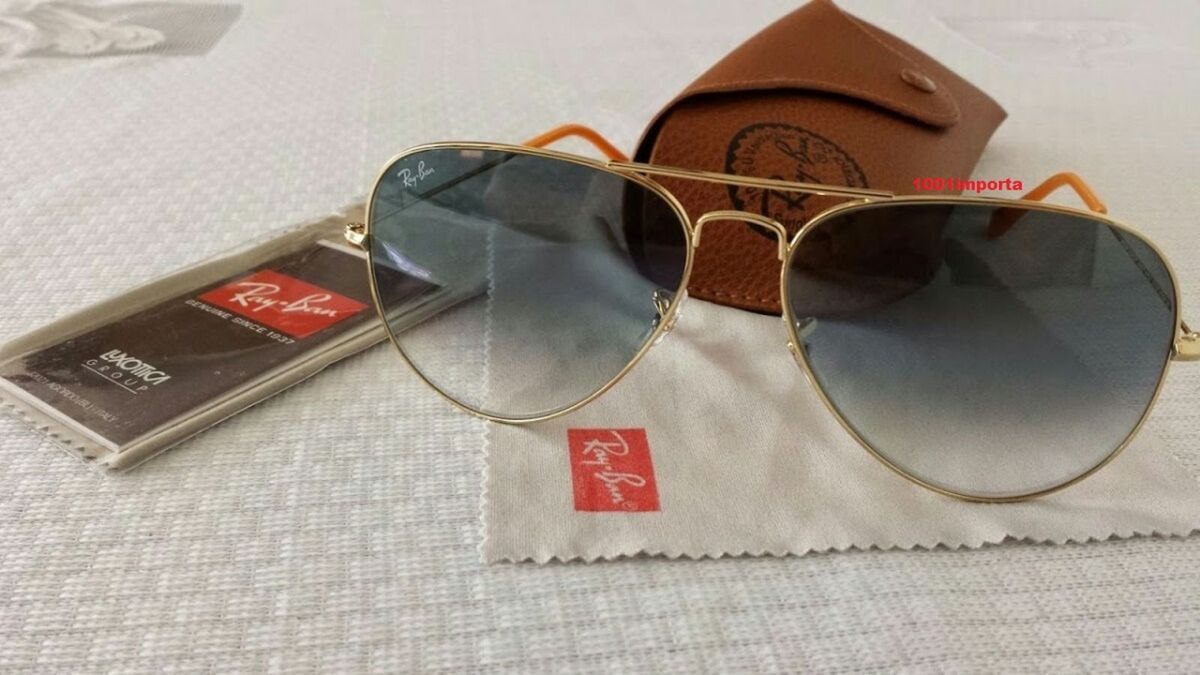 oculos ray ban aviador azul degrade e rayban aviador marron degrade original  - óculos ray ban 9e819508c6