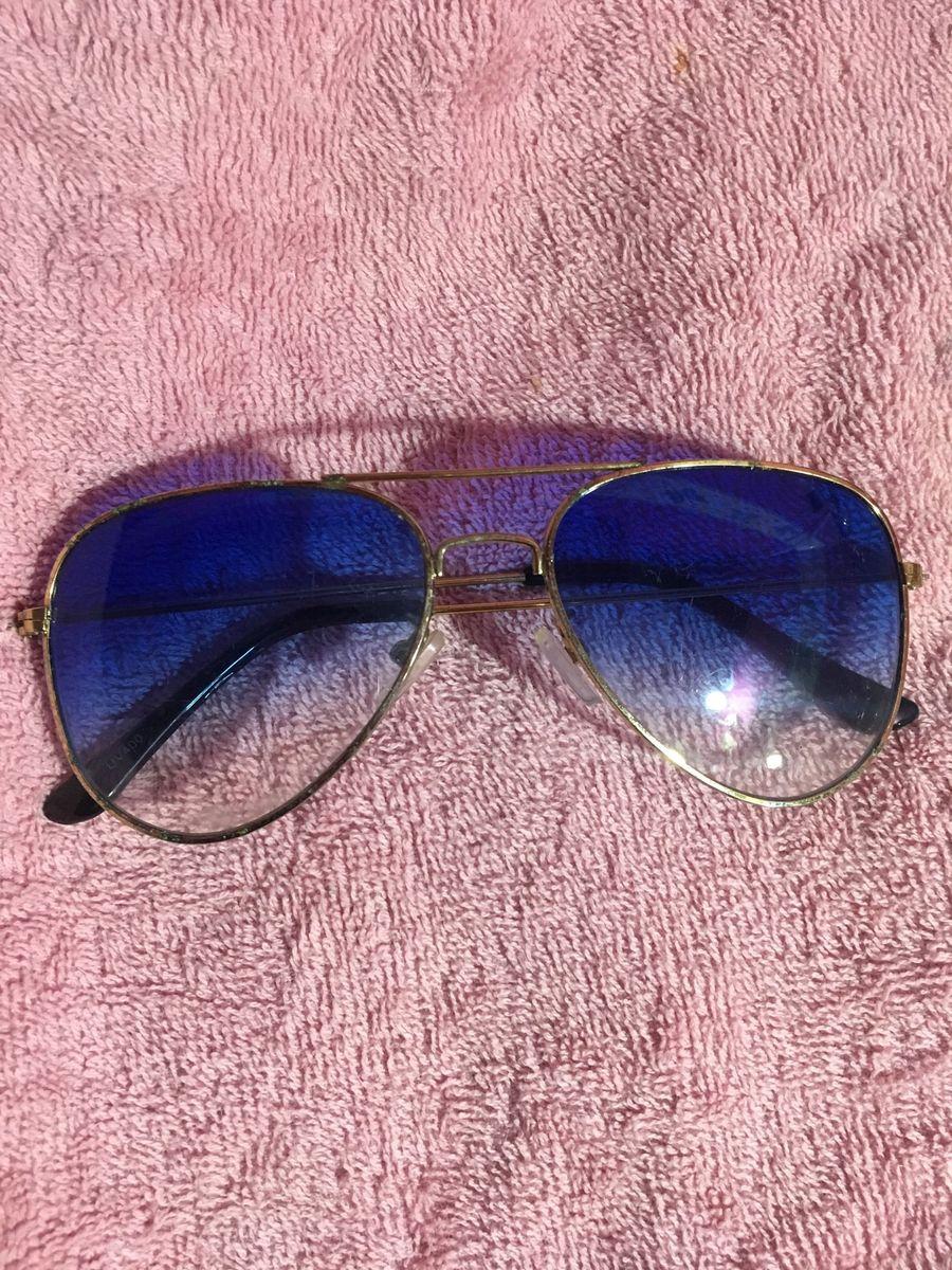 Óculos Ray-ban Aviador - Lente Azul Clara   Óculos Feminino Ray Ban ... a94aab3c3e