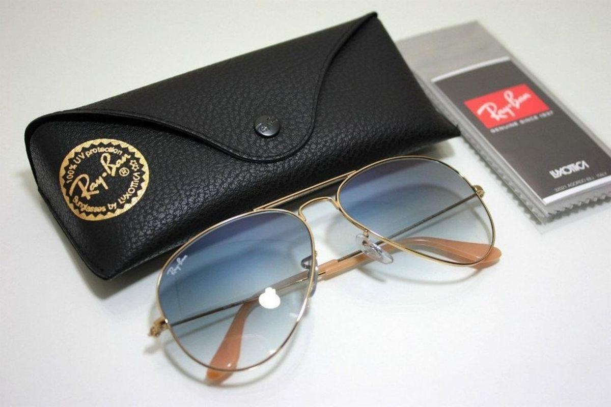 f5376d3ea9a1f oculos ray ban aviador rb3026 azul degrade original importado - óculos ray  ban