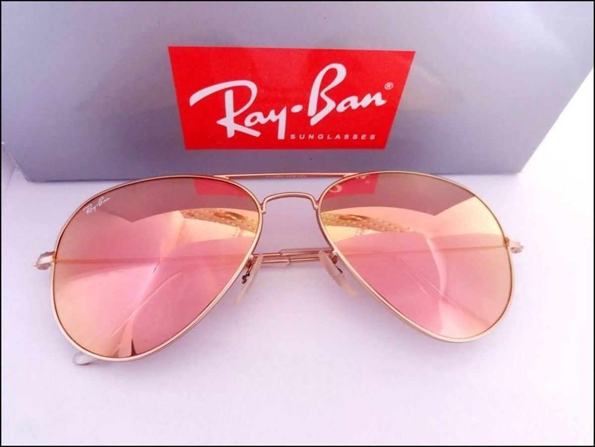 f75696165d326 Oculos Ray Ban Aviador Rb3026 Rosa Espelhado Original Importado   Óculos  Feminino Ray Ban Nunca Usado 14482111   enjoei