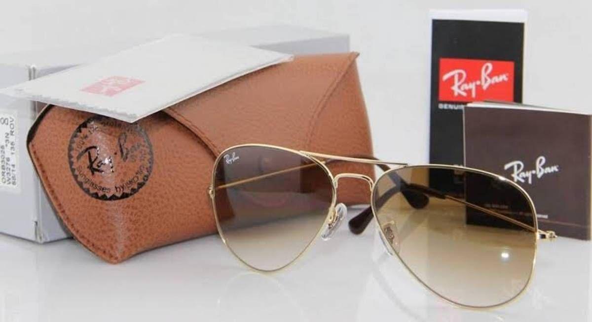 bc85d5568 Óculos Ray-ban Aviador Várias Cores Promoção!!! | Óculos Feminino ...