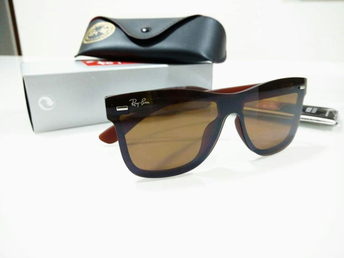 931a9a6fe óculos ray ban blaze marrom wayfarer masculino e feminino - óculos ray-ban