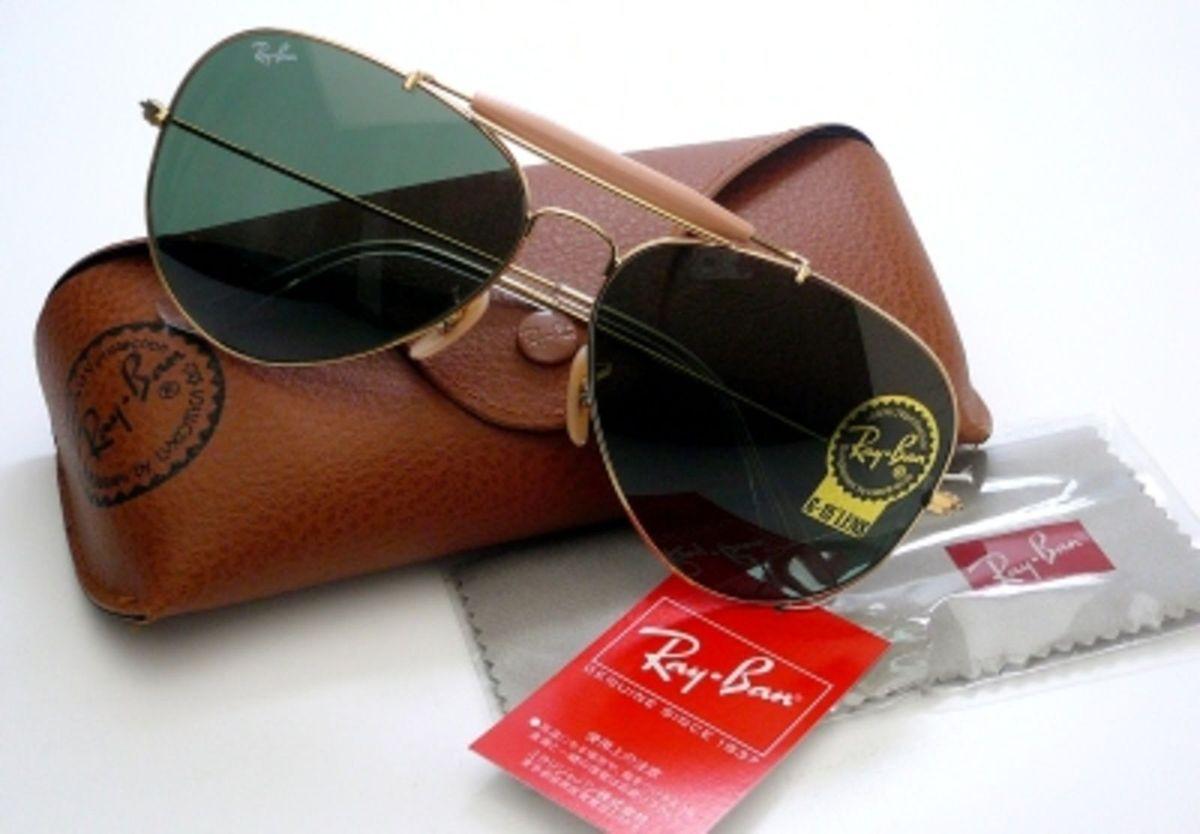 Óculos Ray Ban Caçador 3029 - Modelo Unissex com Armação Dourada e Lentes  Cristalizadas Verde   Produto Feminino Ray Ban Nunca Usado 13607950   enjoei bb4a28d7d5