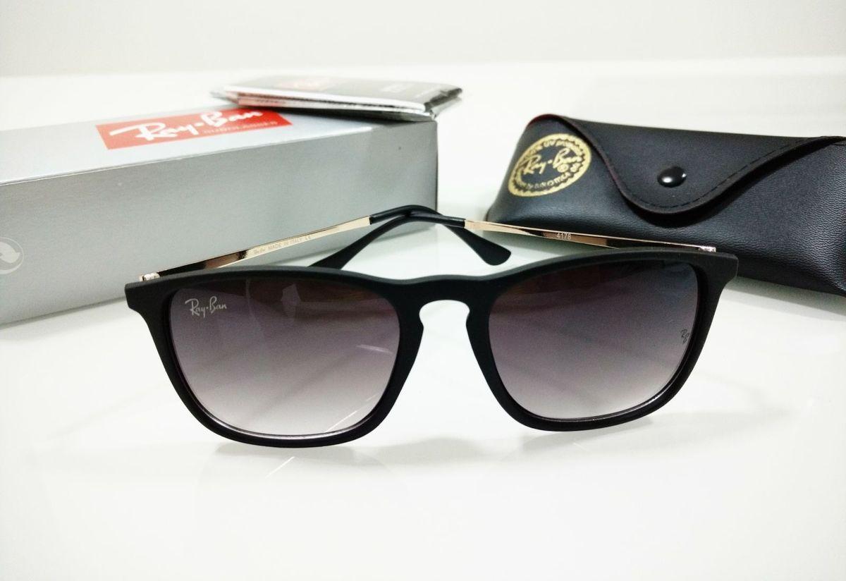 29e61c062ec9f óculos ray-ban chris preto fosco degradê quadrado feminino e masculino - óculos  ray-