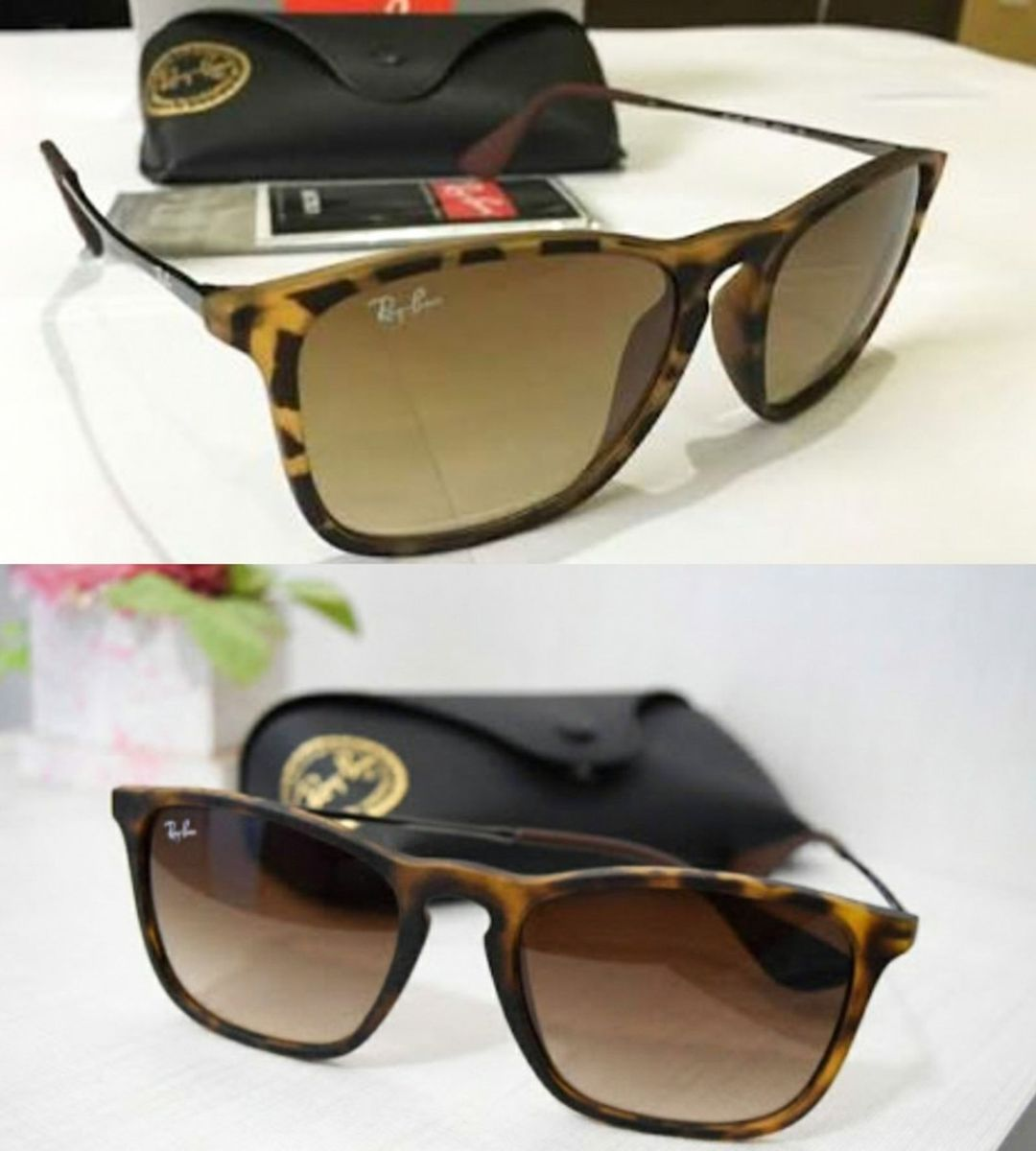 affaaa9532fe3 óculos ray-ban chris tartaruga oncinha lente marrom feminino - óculos ray- ban