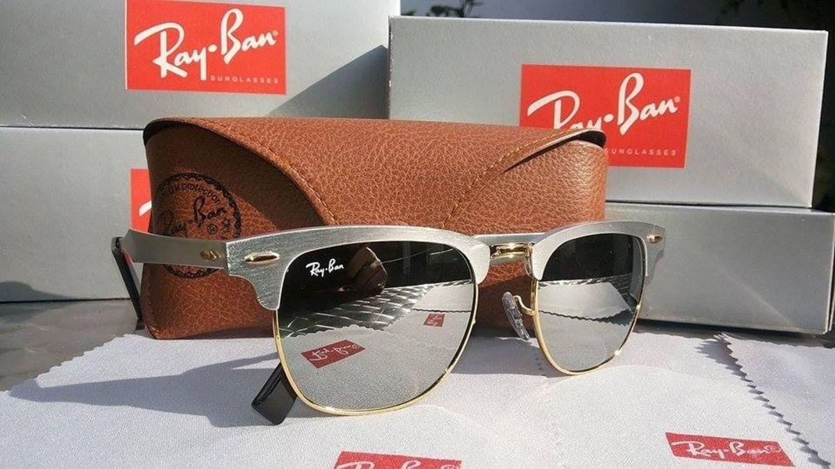 Oculos Ray Ban Clubmaster Aluminium Espelhado   Óculos Feminino Ray ... 814637c710