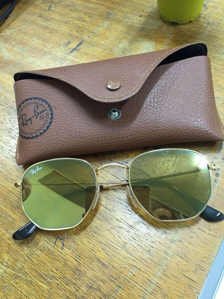 541d856e49cab Óculos Ray-ban Hexagonal Espelhado Original   Óculos Feminino Ray ...