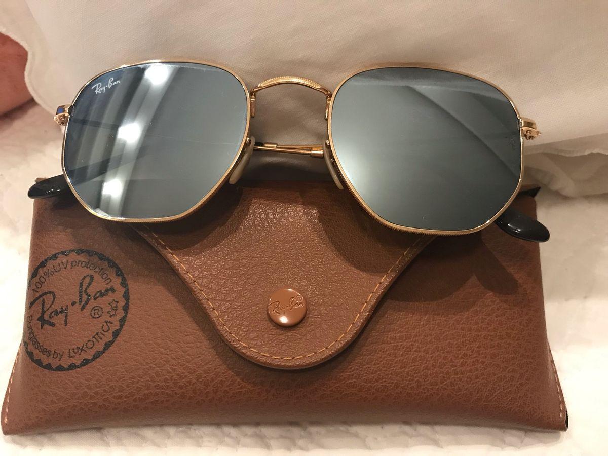 fac8b6dab50e6 Óculos Ray Ban Hexagonal Original   Óculos Feminino Ray Ban Usado ...