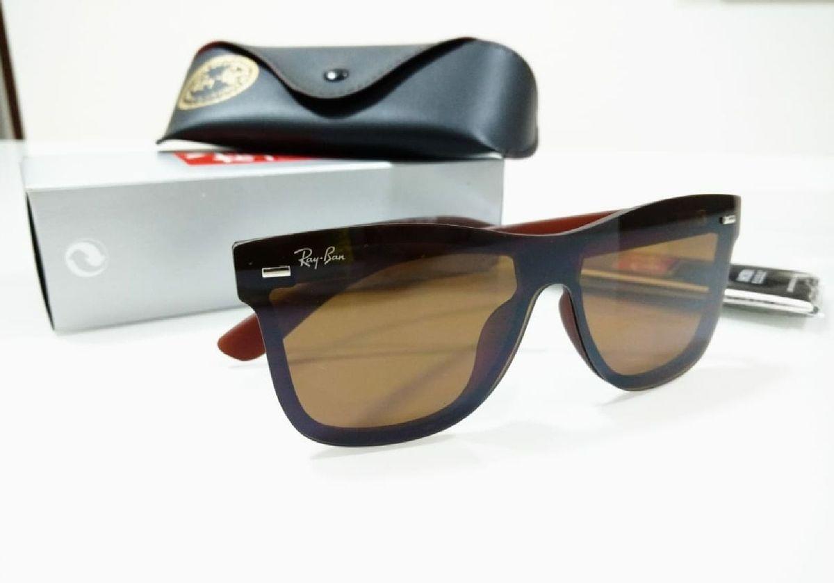 695d8b9b3 óculos ray ban máscara blaze wayfarer marrom fosco lançamento unissex - óculos  ray-ban