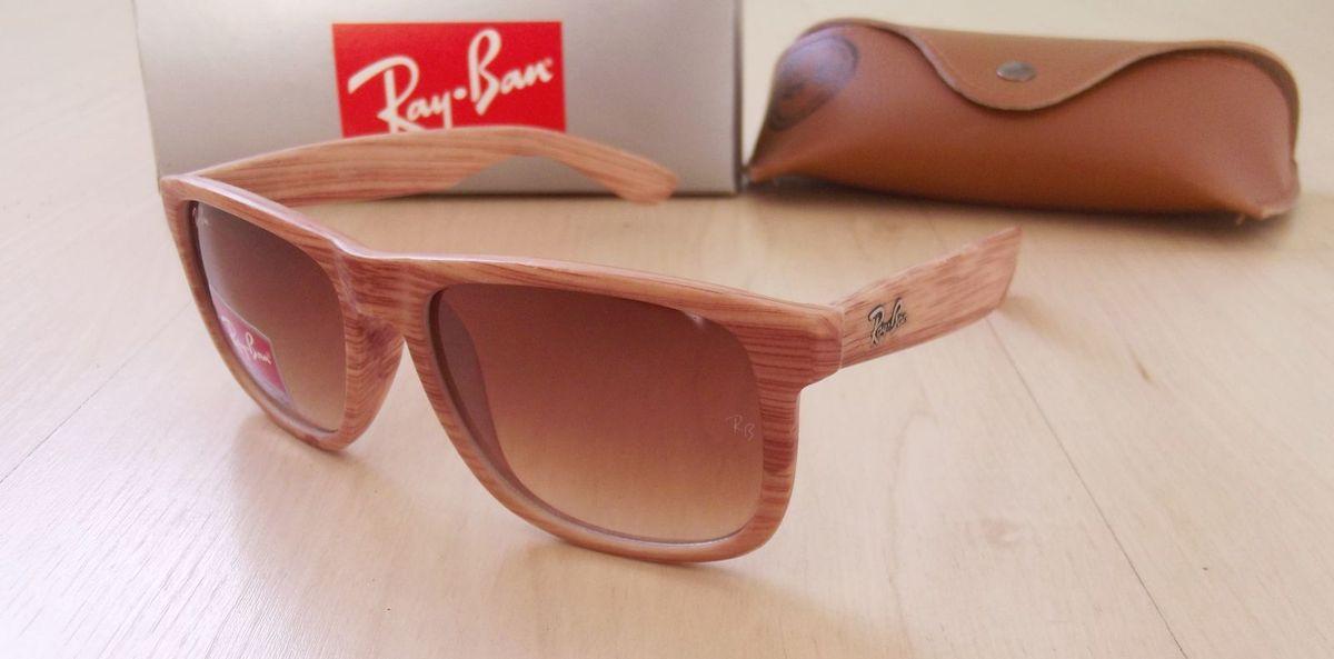 cad6138909f11 óculos ray ban rb4165 justin cor madeira - óculos ray ban