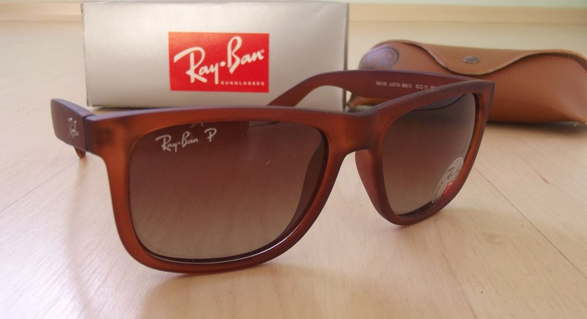 5dc40fa52d68f óculos ray ban rb4165 justin marrom claro - óculos ray ban