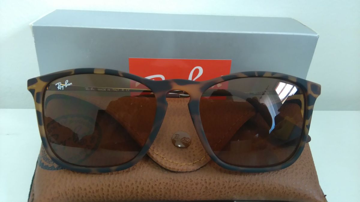 c2f63cf498b1a óculos ray-ban rb4187 chris 54 - tartaruga original - óculos ray ban