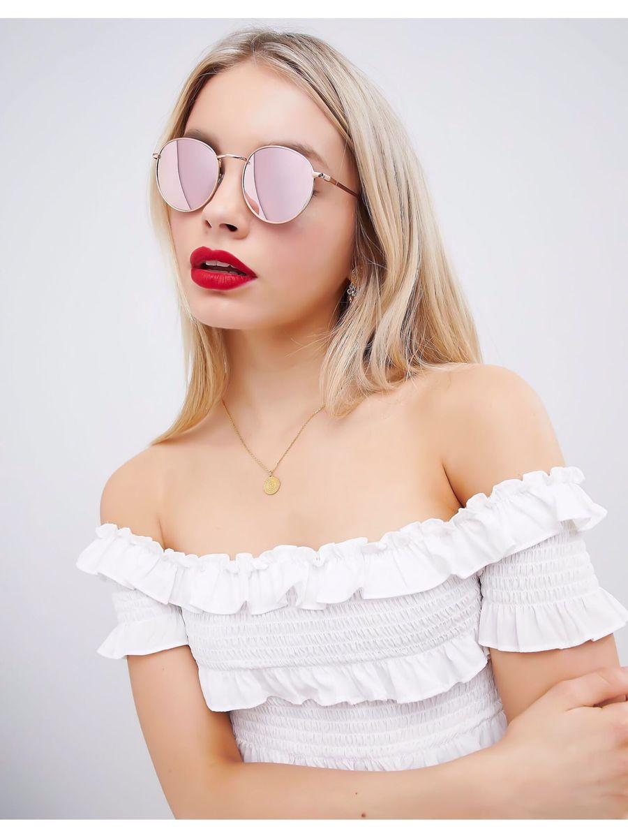 482a071f97ba0 óculos ray-ban round espelhado redondo dourado e rosa - óculos ray-ban
