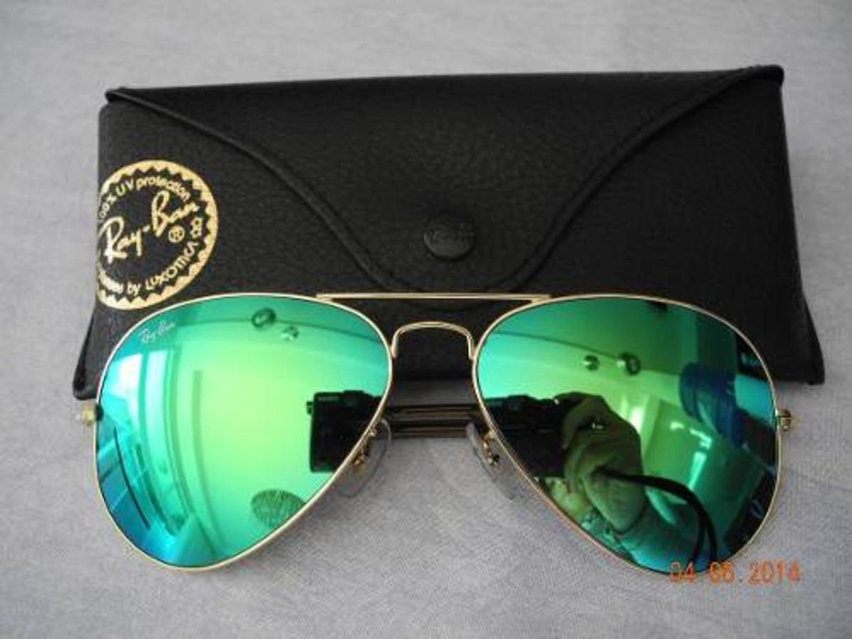 00d880ae3f2a6 oculos ray ban verde espelhado 3025 - óculos ray-ban