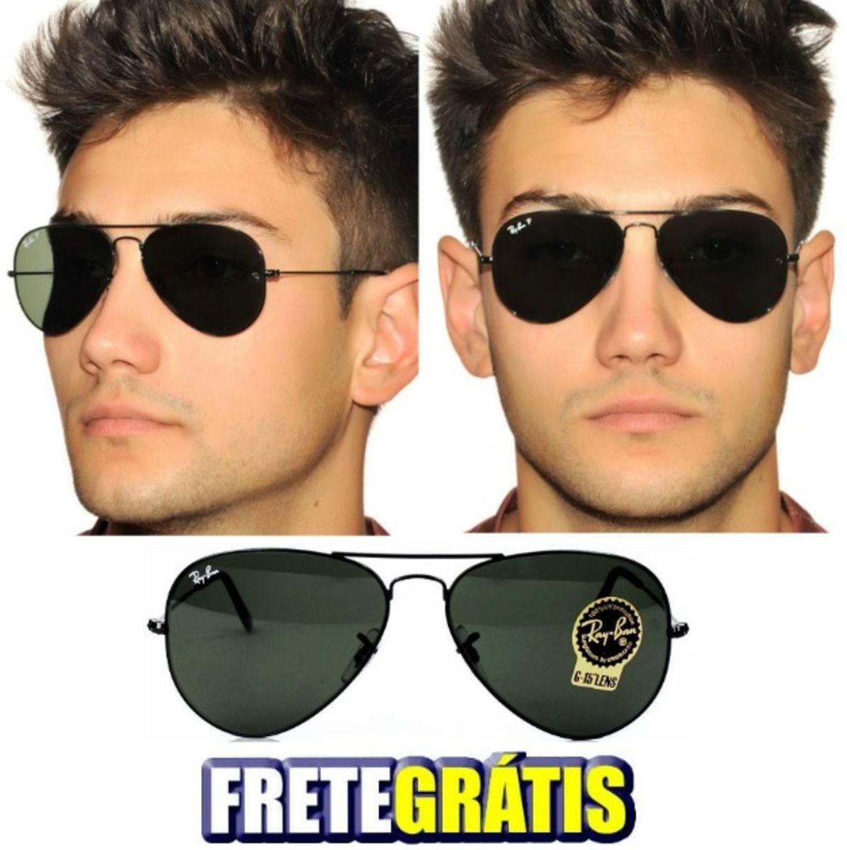 óculos rayban aviador preto 3026 masculino feminino - óculos ray-ban c979182f4f