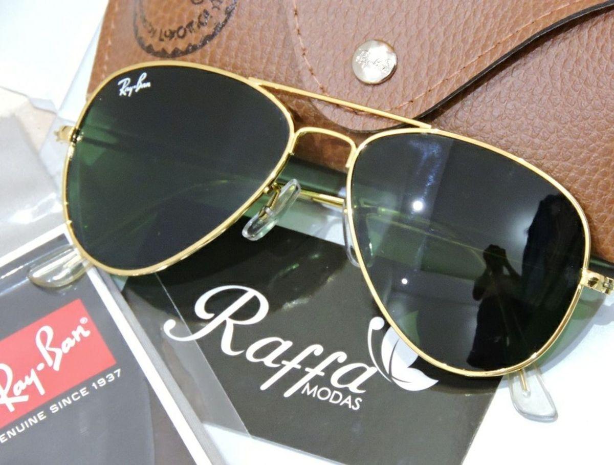 Oculos Rayban Aviador Verde G15 Rb3025 e Rb3026   Óculos Feminino ... 40b28fe78d
