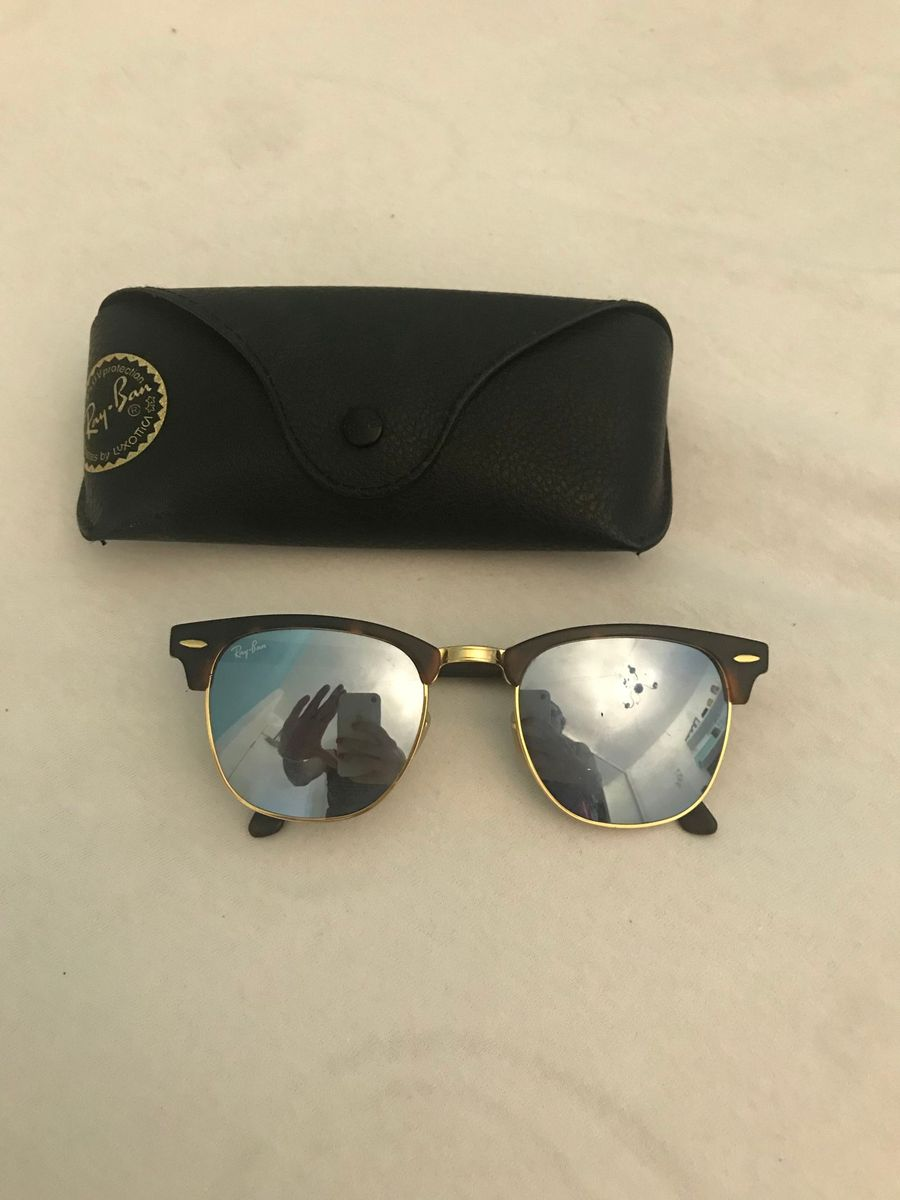 Óculos Rayban Clubmaster Espelhado   Óculos Feminino Ray Ban Usado ... 16ed3f6726