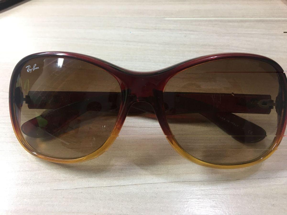 Óculos Rayban Feminino Acetato Marrom Original   Óculos Feminino Ray ... d432bc21ad