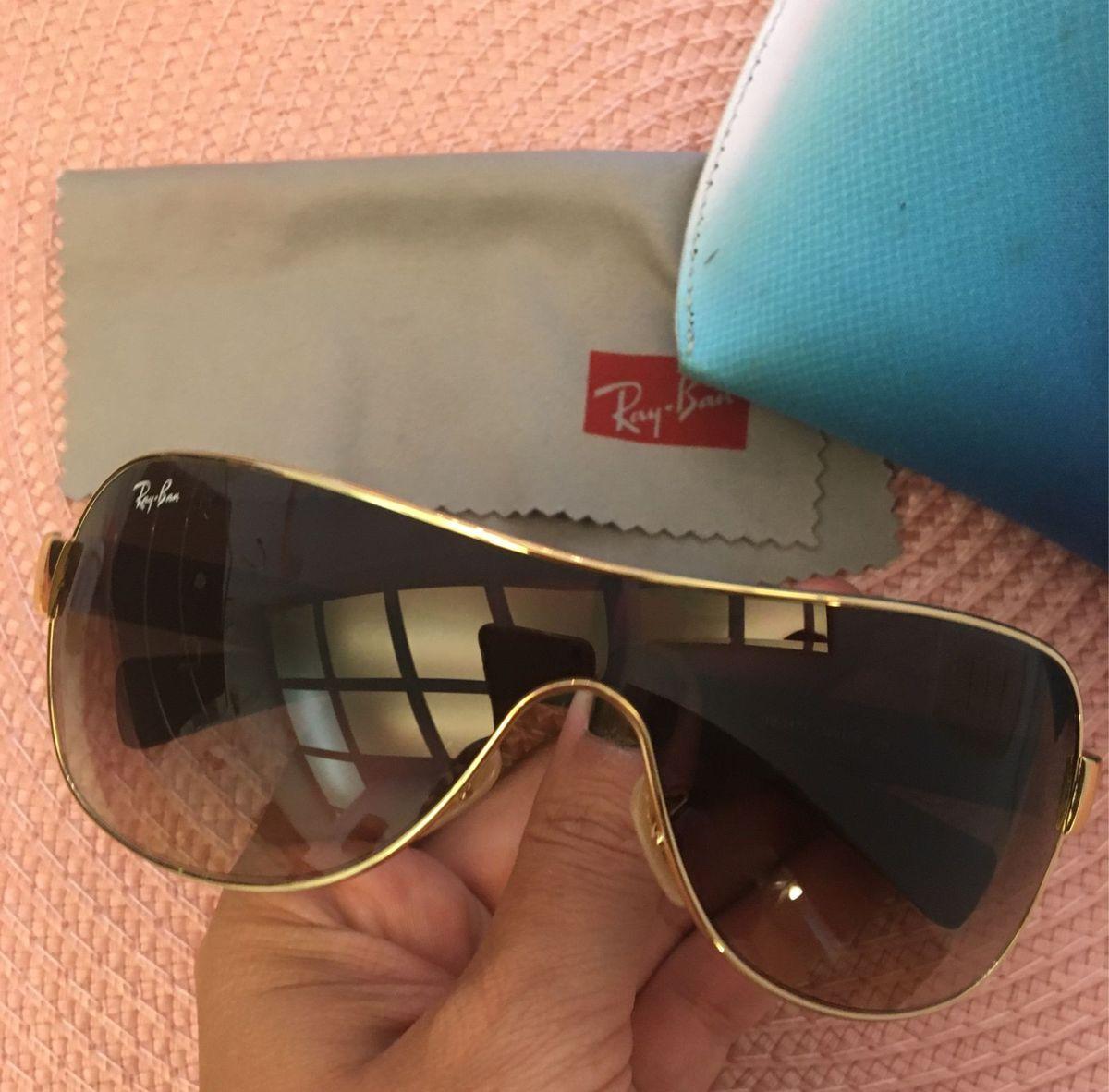 f27fde7967fe8 óculos rayban original sol - dourado - óculos ray-ban