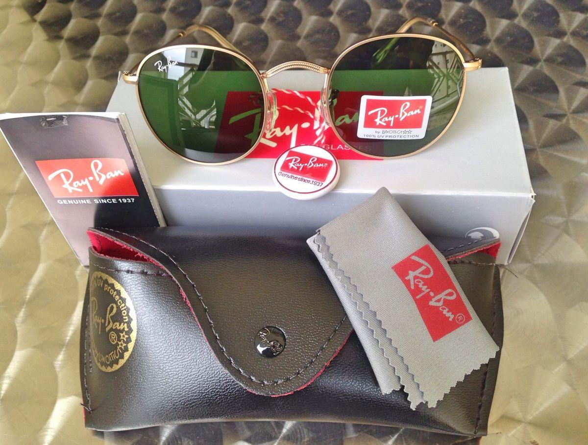 1077fd43b385d óculos rayban round metal tradicional promoção - óculos ray-ban