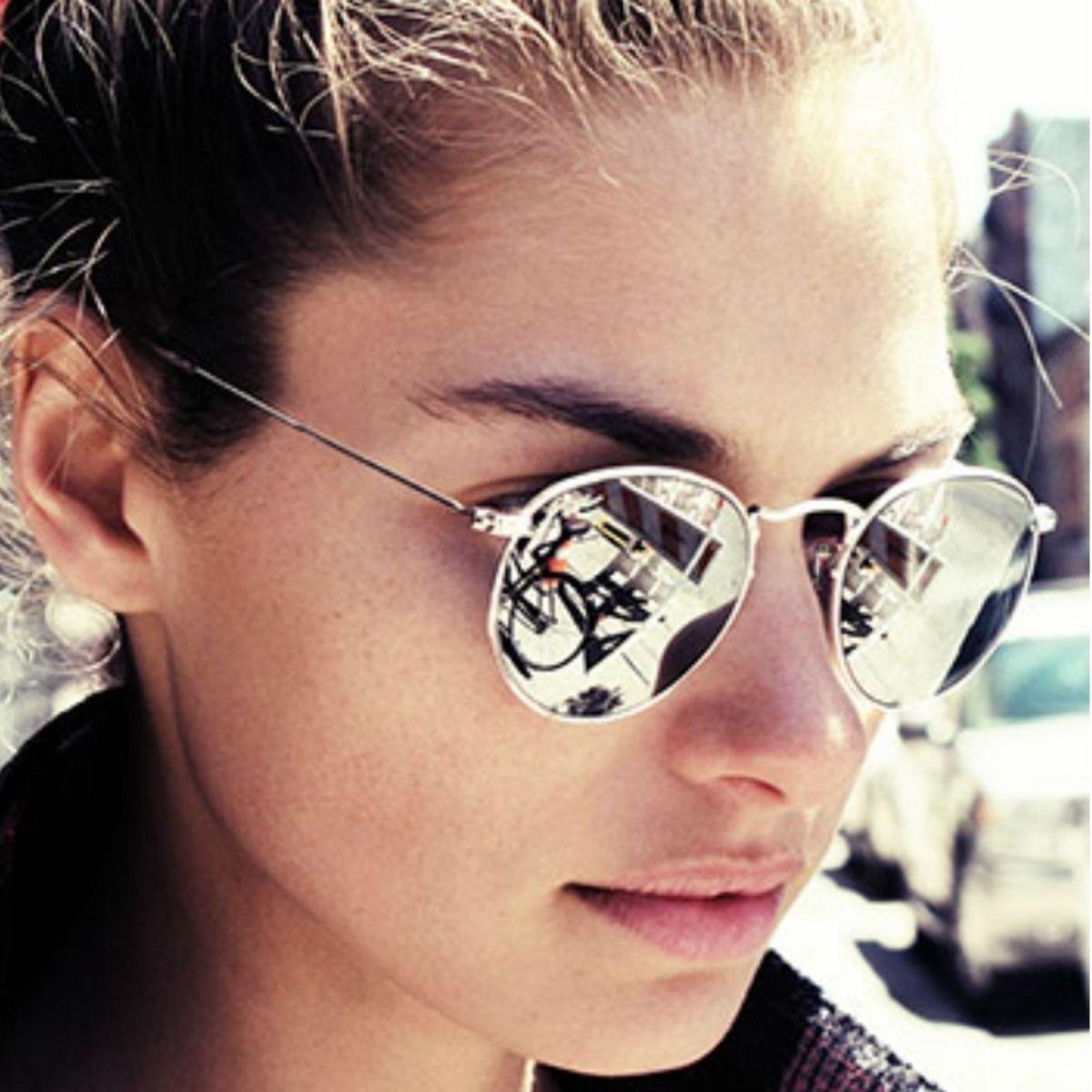 29cab50eb Óculos Redondo Espelhado | Óculos Feminino Nunca Usado 2226709 | enjoei