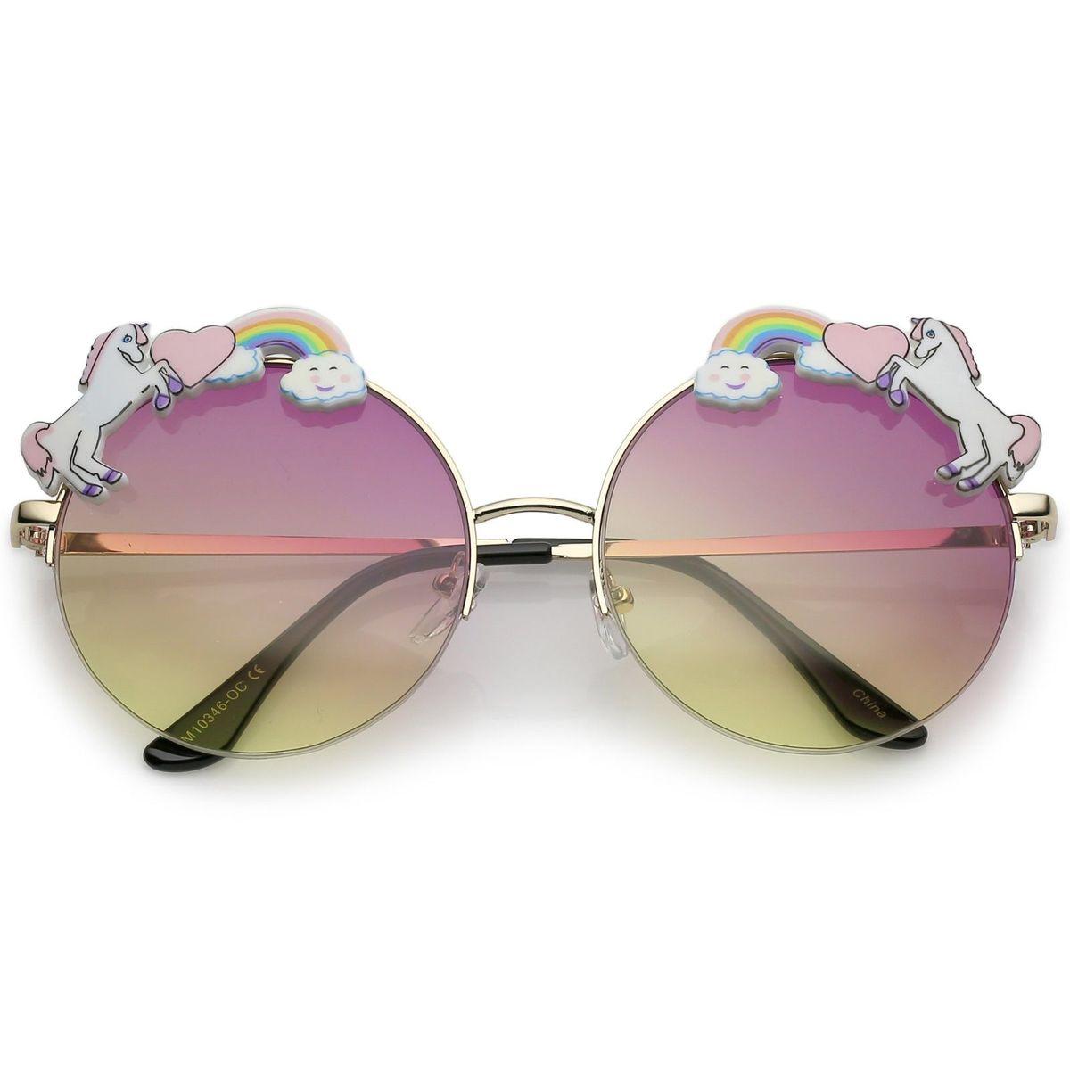Óculos Redondo - Lentes Coloridas - Unicornio   Óculos Feminino ... 3024264551