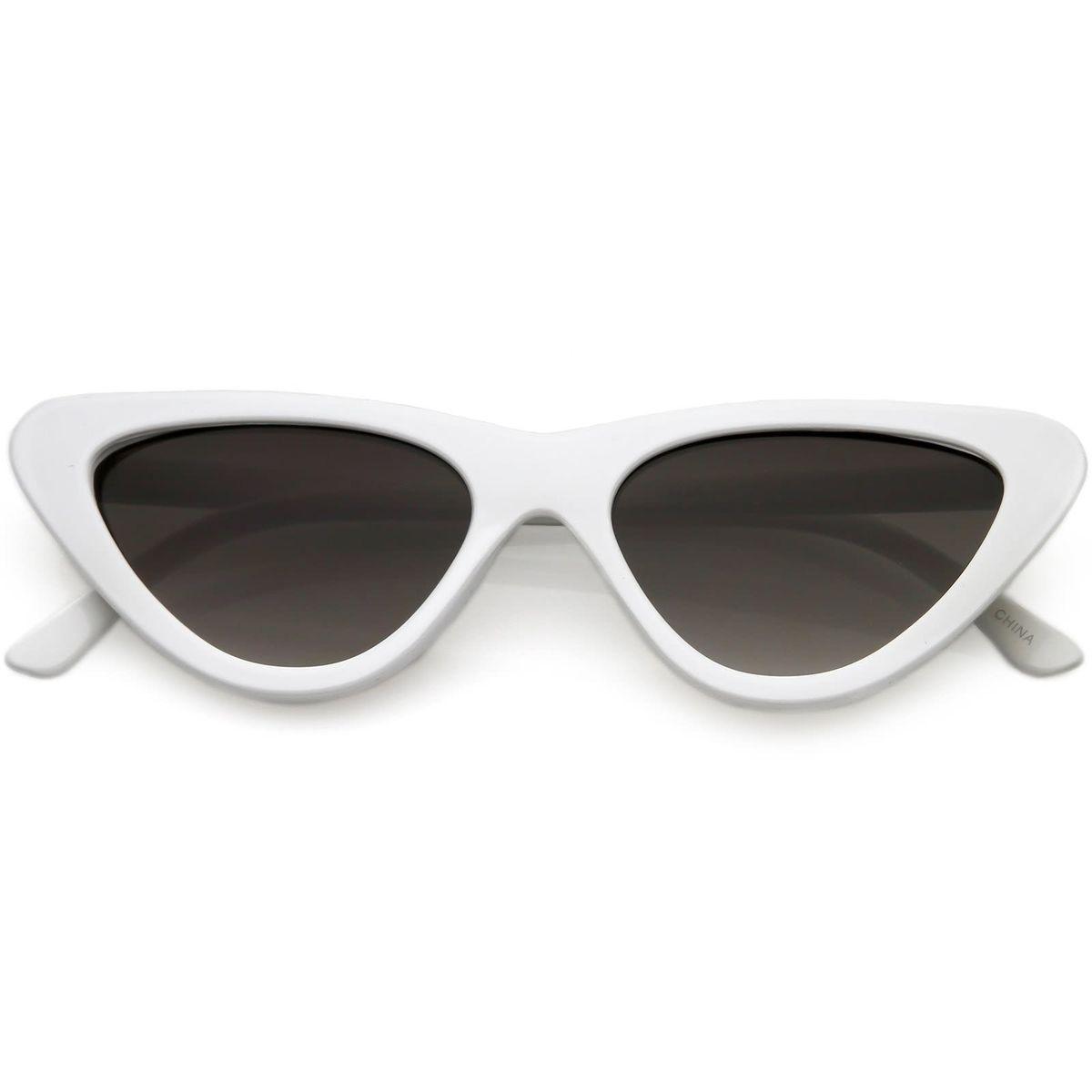 9dc6ec463215e Óculos Retrô Gatinho Branco