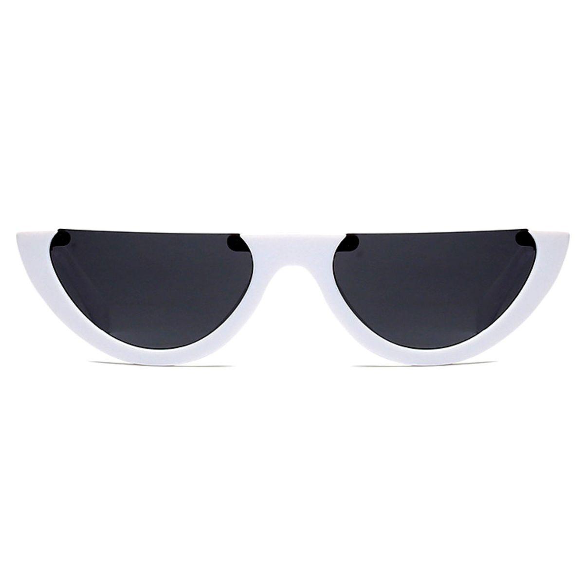 e3c10f5c2 Óculos Retro Metade Branco   Óculos Feminino Genie Vintage Usado 30910712    enjoei
