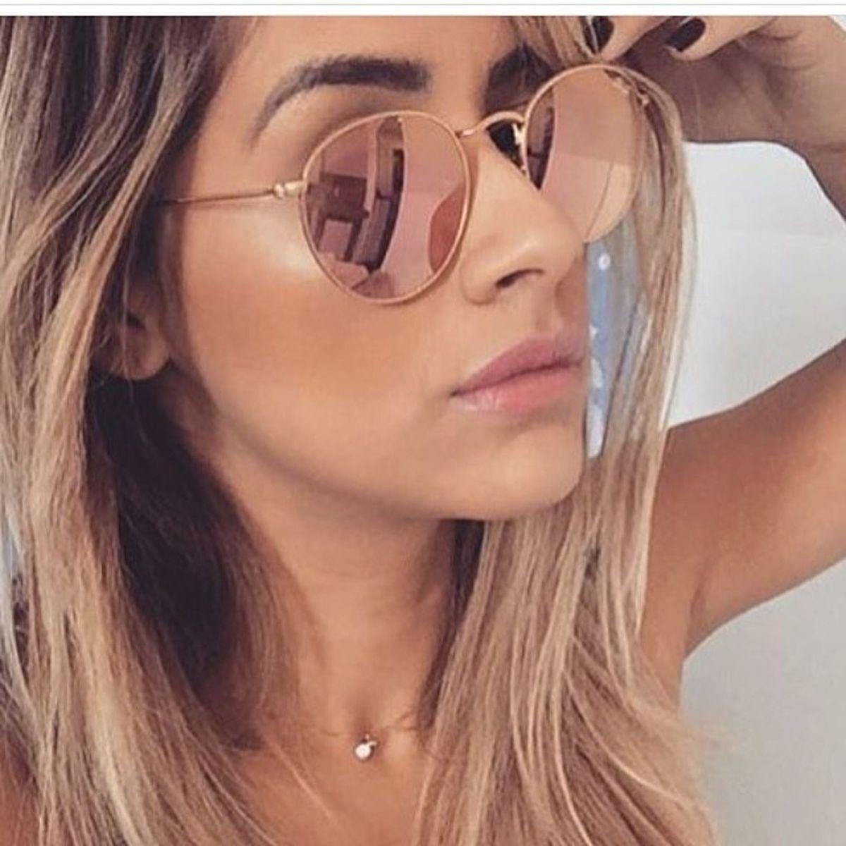 fd806814c3a8a Oculos Round Rosé Retrô Blogueiras 2016