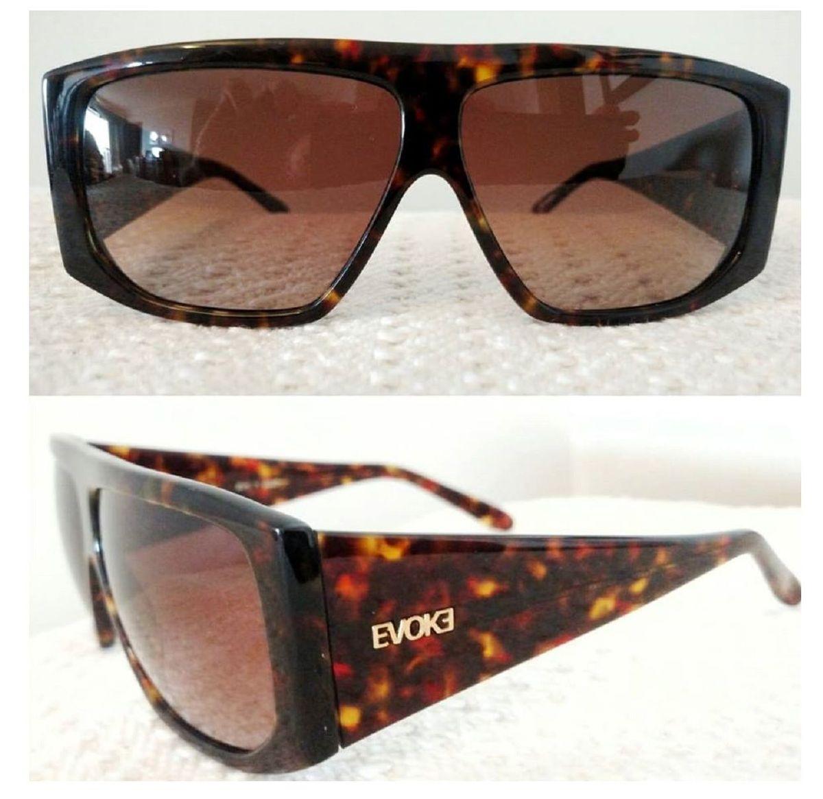 33b1d70b0 óculos sol evoke evk 11 original novo caixa case flanela raridade - óculos  evoke