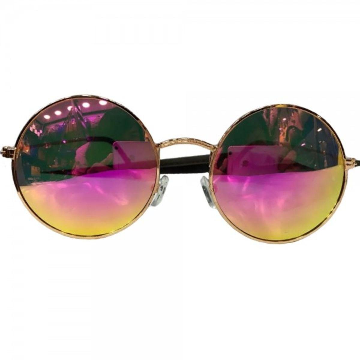 ab67aed187c27 óculos sol redondo espelhado feminino unissex proteção uv400 - óculos tpm