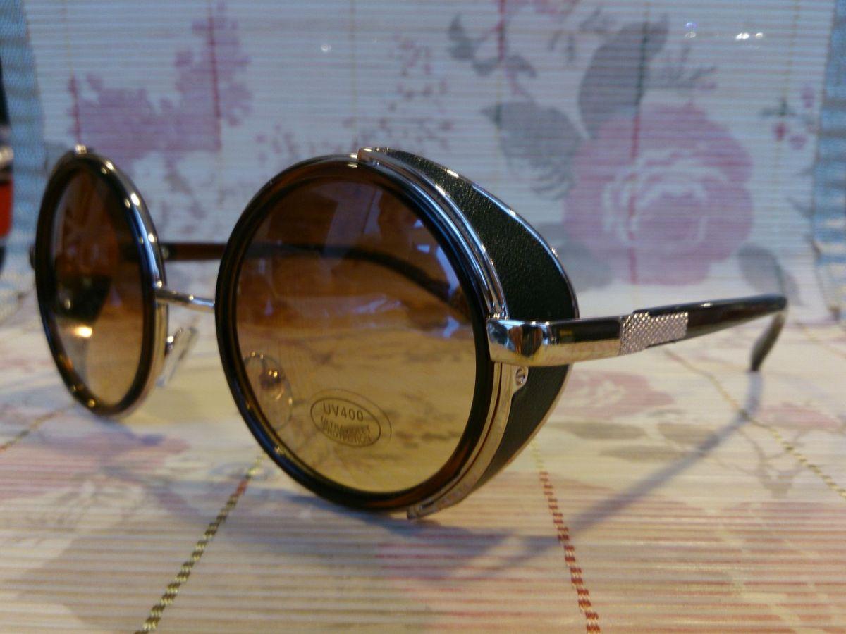 Óculos Sol Redondo Marrom   Óculos Feminino Nunca Usado 1482773   enjoei 0c40fd60ea
