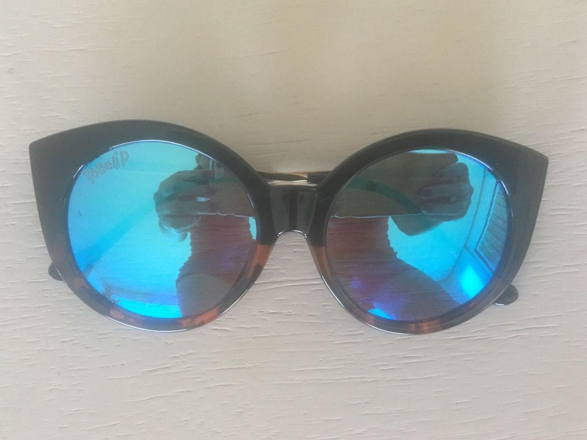 Óculos Tartaruga , Lente Espelhada e Azulada   Óculos Feminino To Be! Usado  28272166   enjoei 708246e12c