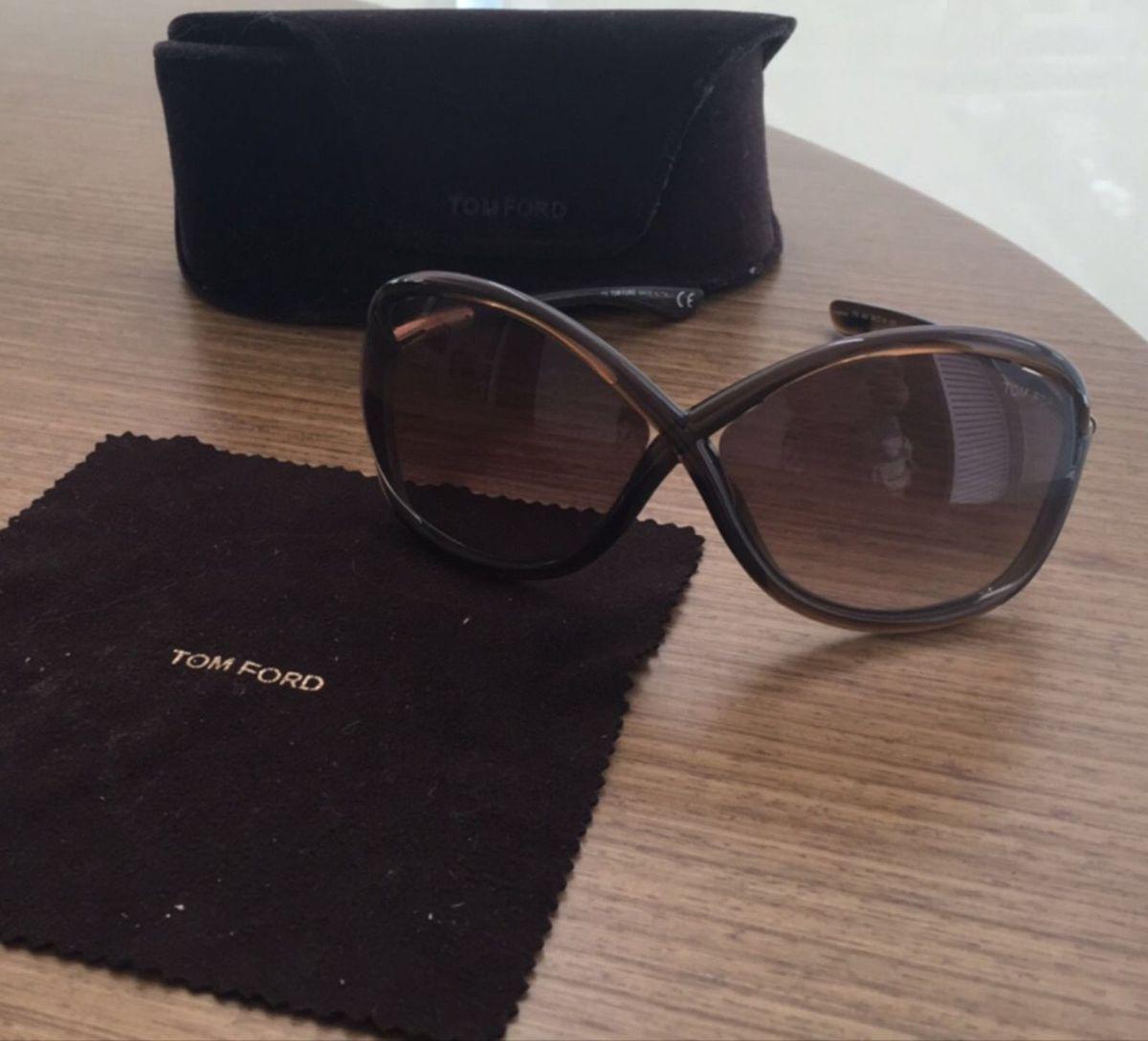 0caa923134f6f Óculos Tom Ford Modelo Whitney Marrom   Óculos Feminino Tom Ford ...
