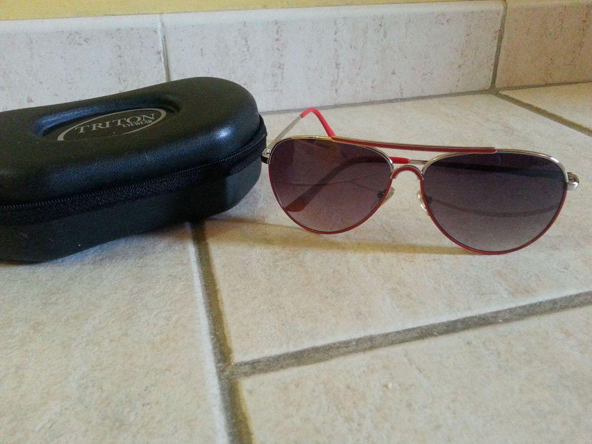 Óculos Triton Aviador Unissex   Óculos Feminino Triton Eyewear Usado ... 7d33808ea6