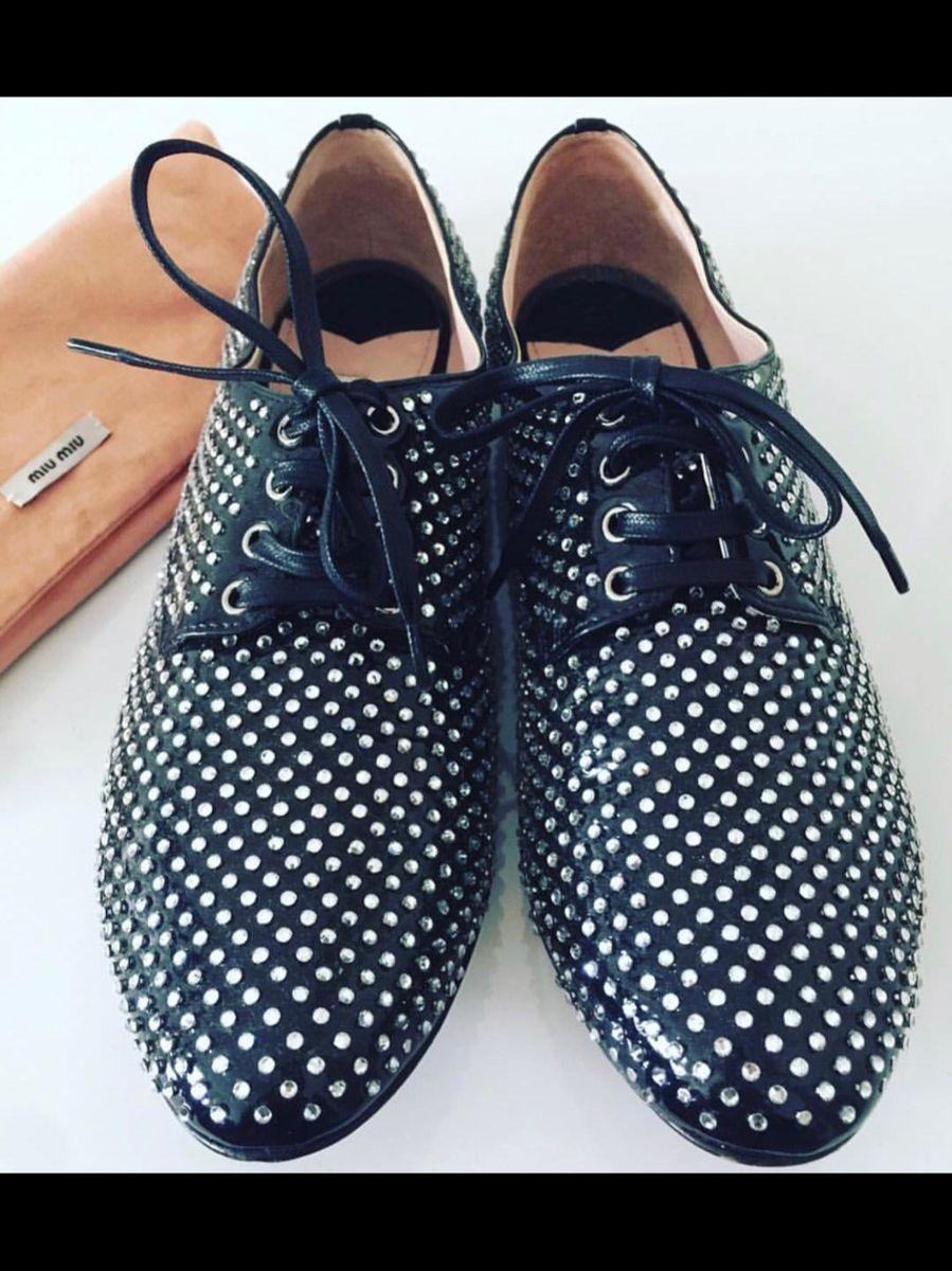 oxford miu miu - sapatos miu miu