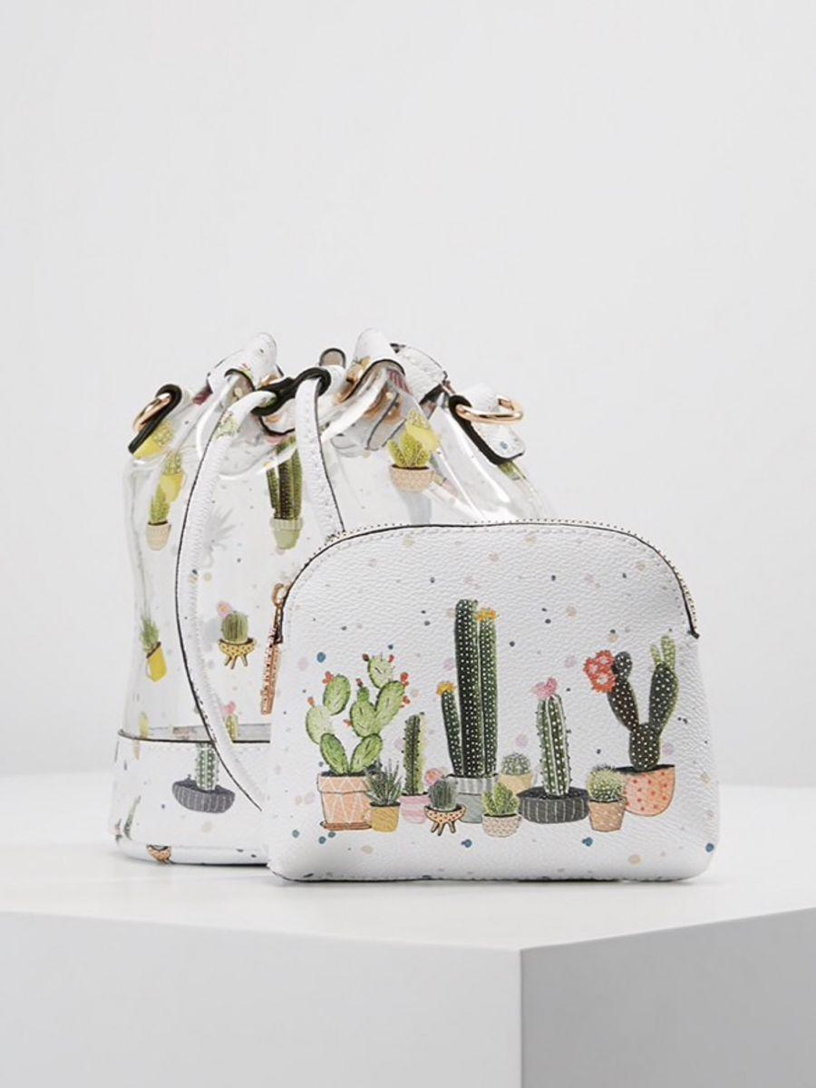 parfois original - bolsinha transversal cactus - ombro parfois