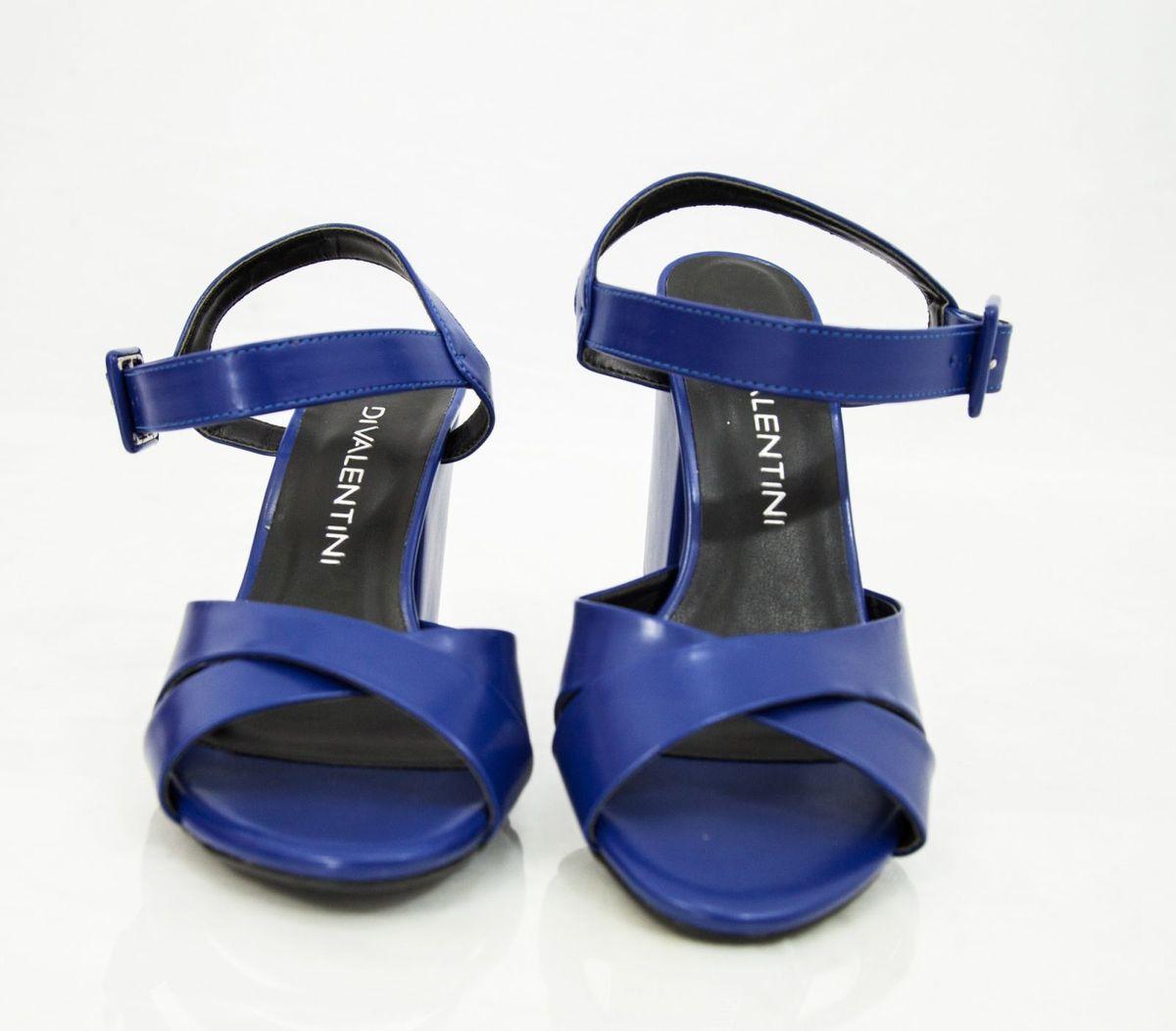c002588c4 Peep Toe Azul - Di Valentini   Sandália Feminina Divalentini Nunca ...