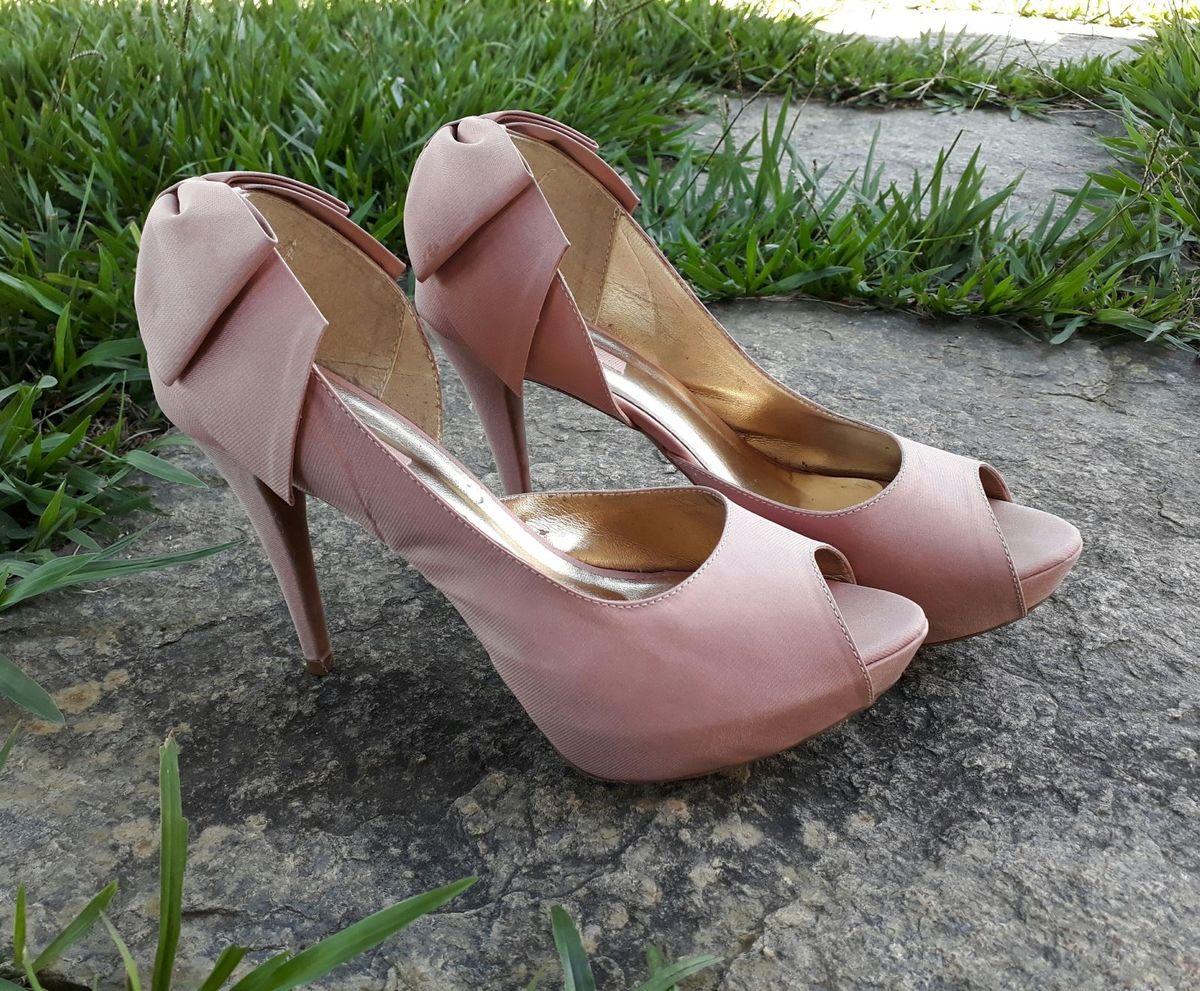 peep toe rosê - sapatos scapare