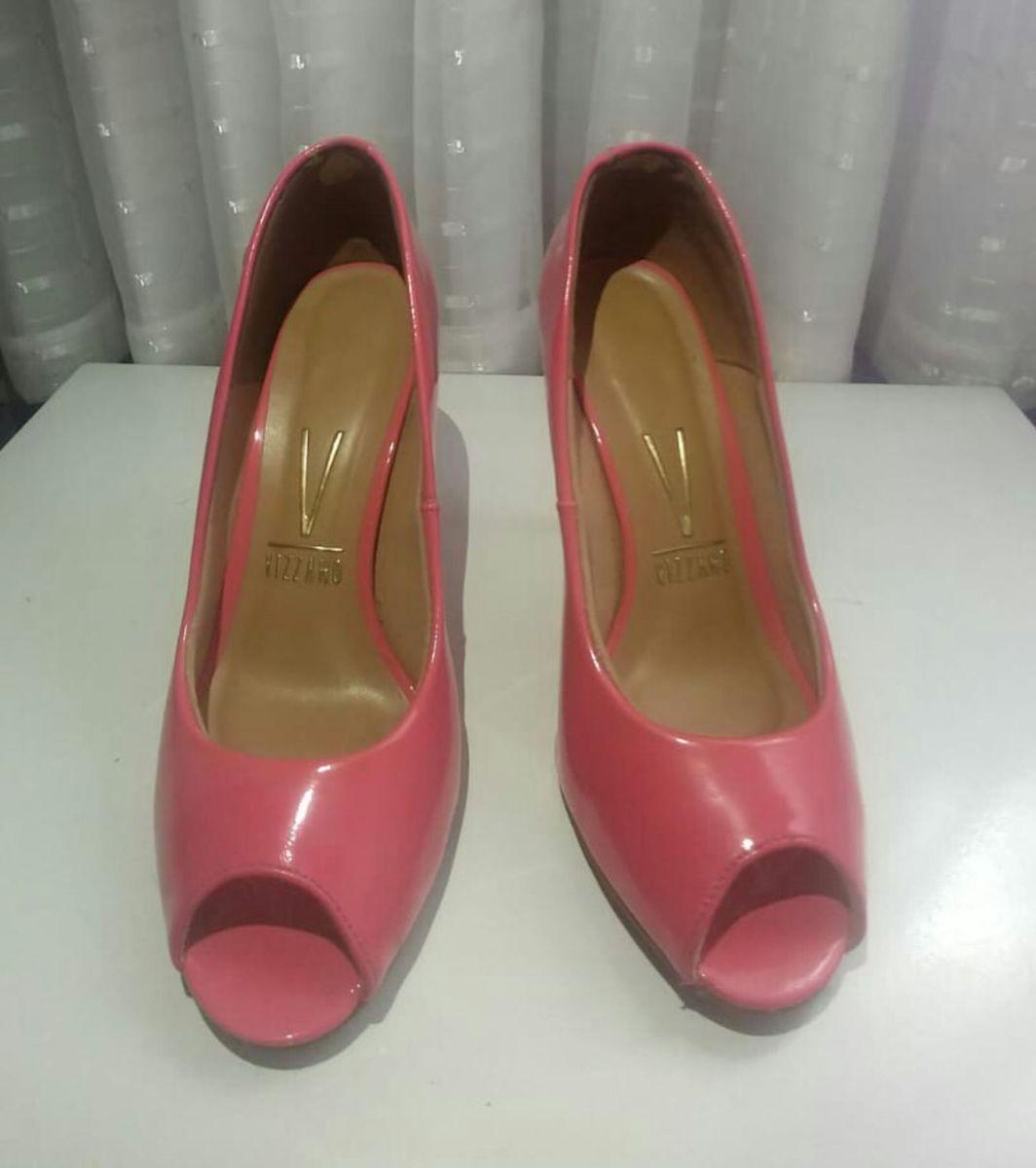 30430c4ed8 peep toe salto feminino vizzano - coral - sapatos vizzano