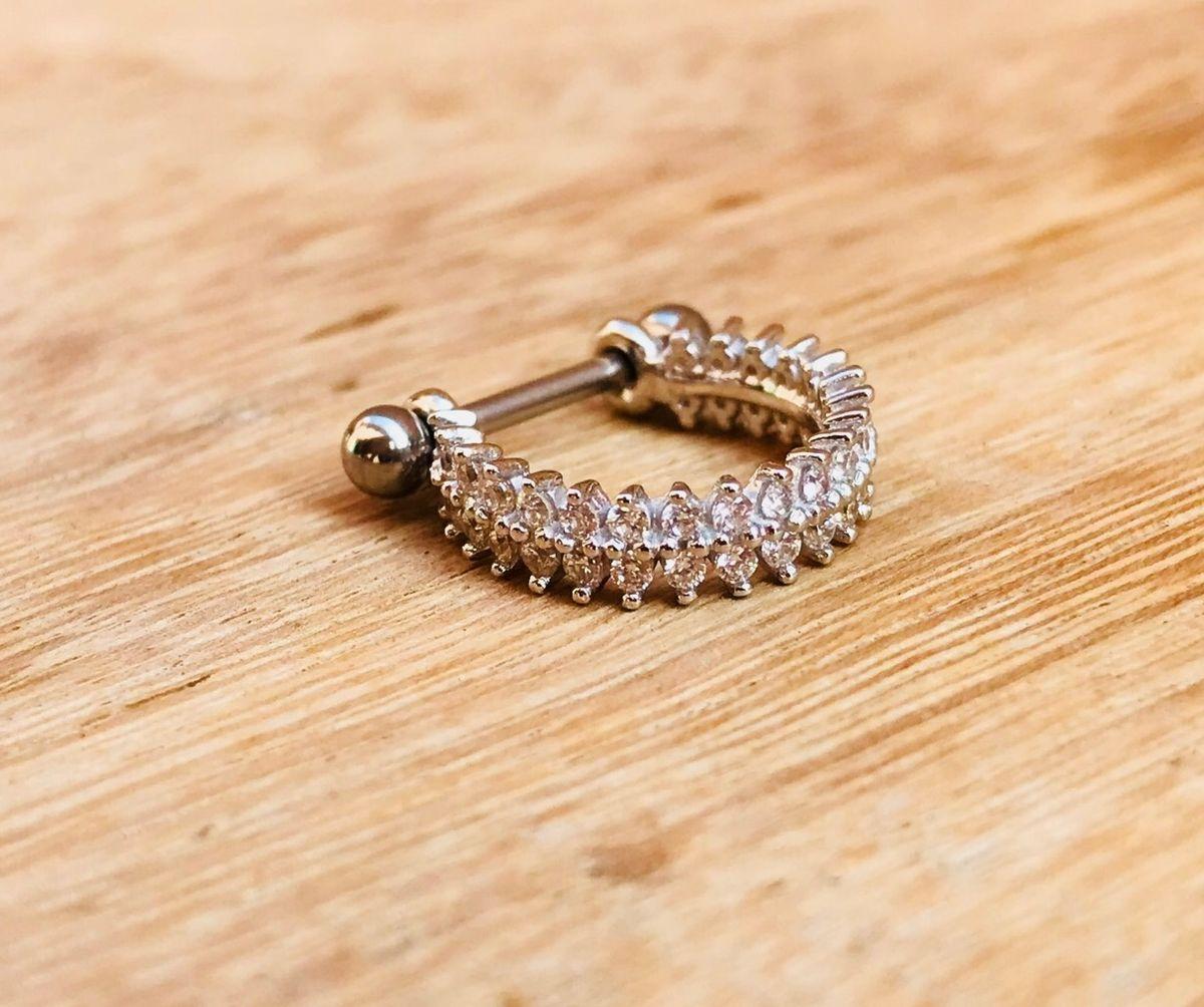 piercing conch duplo - jóias kedros