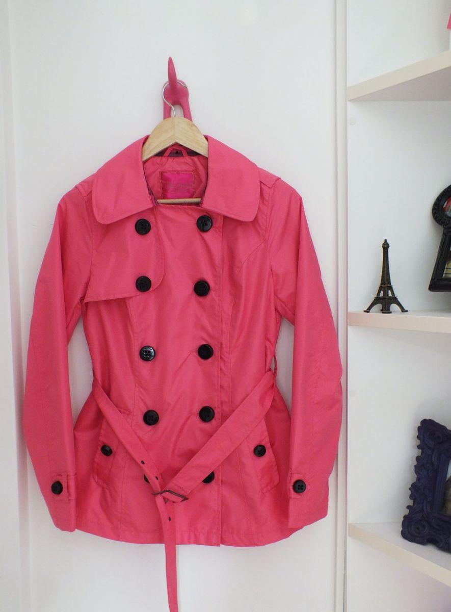 pink trench coach - casaquinhos pink envelope