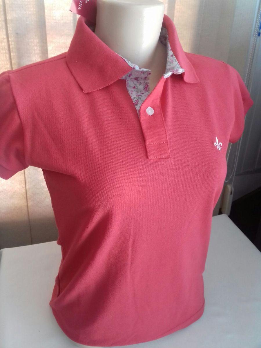 polo feminina dudalina vermelha p - camisetas dudalina 48cbaed6b5fbf