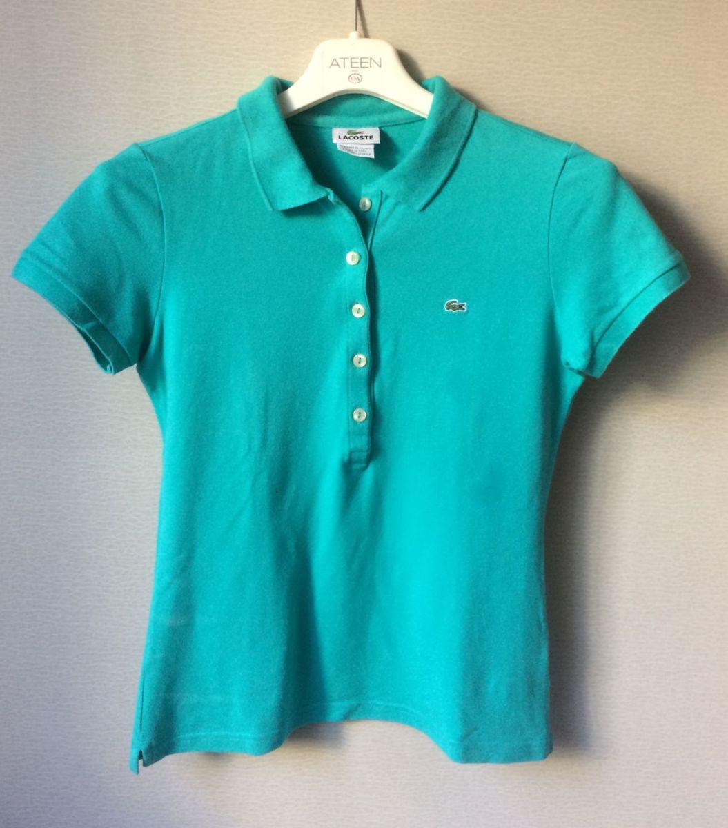 08f17caa32d3e polo feminina lacoste original 5 botões! - camisas lacoste