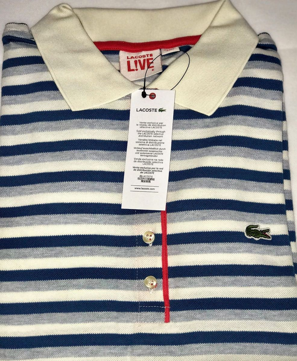 e10ff30b8886d pólo feminina lacoste original - camisetas lacoste